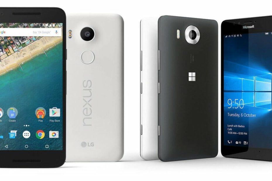 Lumia 950 vs. Nexus 5X