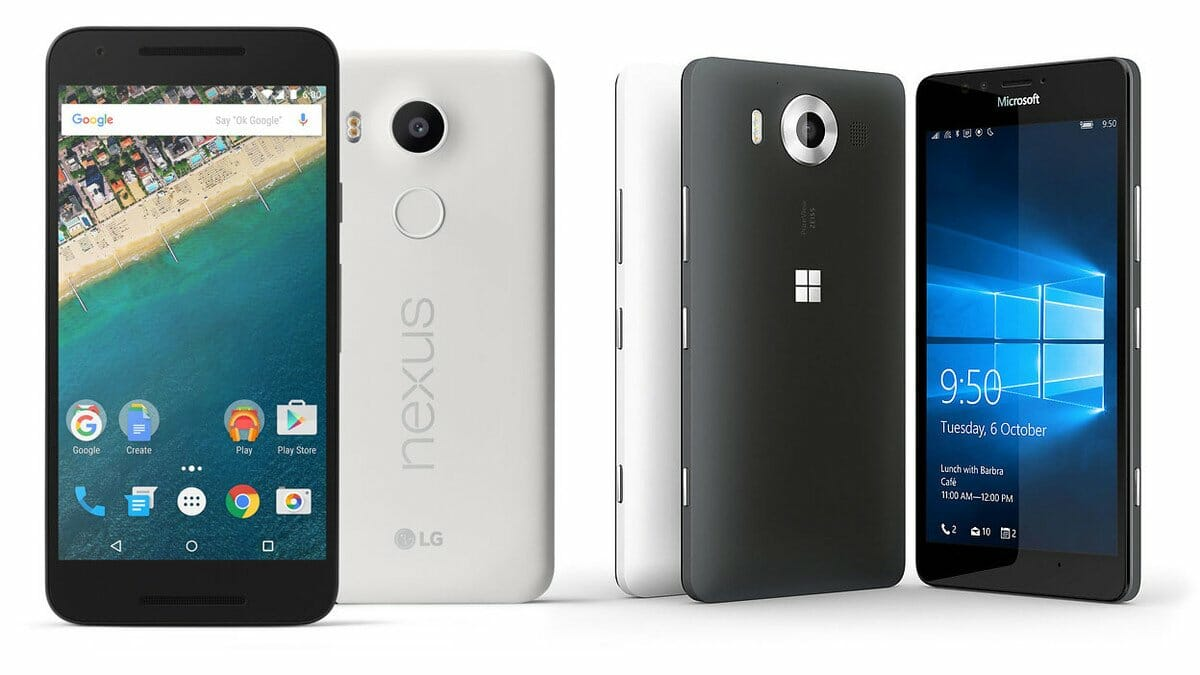 Lumia 950 vs. Nexus 5X