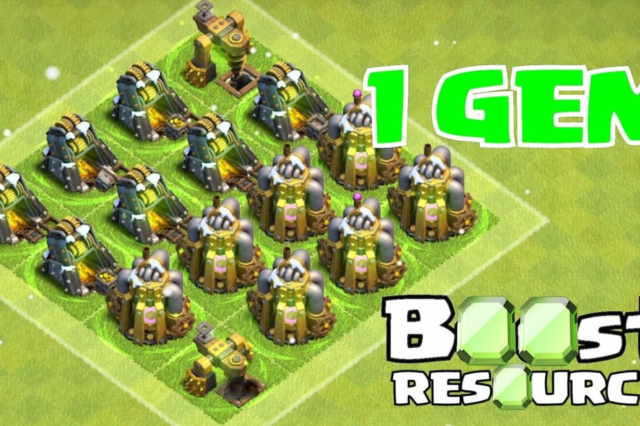 Clash of Clans 1 Gem Boost Update, Clash of Clans, Clash of Clans Update