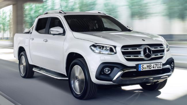 Mercedes Benz X Class Pickup Fact Black And White