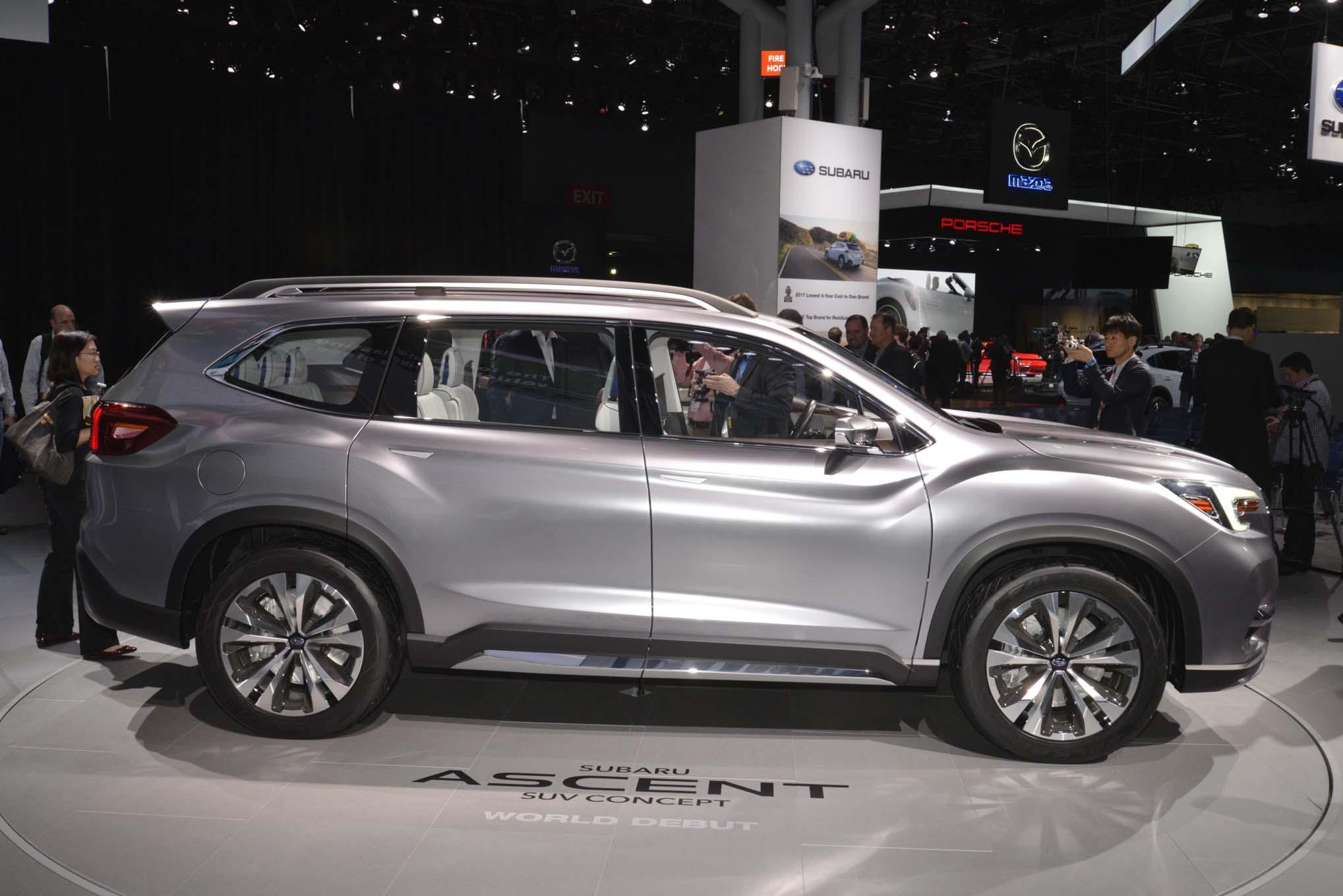 Subaru Ascent 2019 SUV before the LA Auto Show
