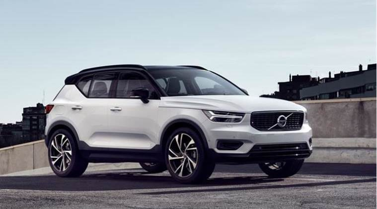 volvo xc40 compact suv revealed during the la auto show. Black Bedroom Furniture Sets. Home Design Ideas