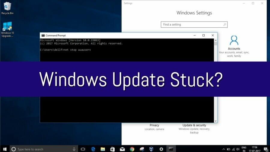 Windows Update Stuck (May 2018)