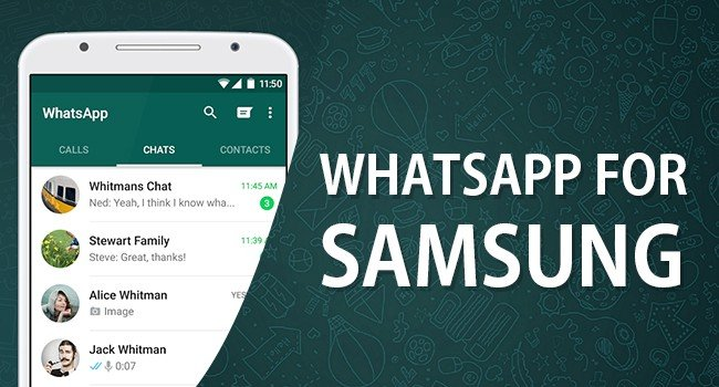WhatsApp on Samsung