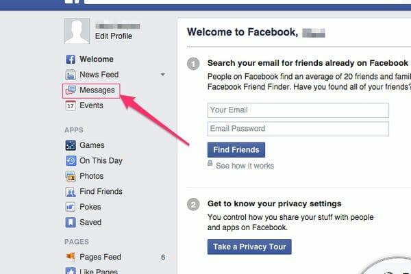 Archived Messages on Facebook Messenger